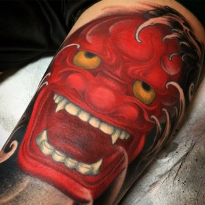 best oni mask tattoo
